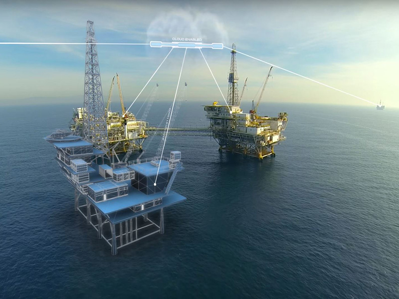 مرکز کنترل استخراج نفت با استفاده از فناوری همزاد دیجیتال