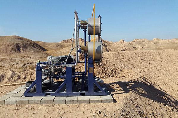 طراحی و ساخت دستگاه Land Burnerتوسط واحد حفاری با هوا